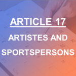 Article 17 Artistes and Sportspersons