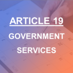Article 19 Government Services