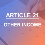 Article 21 Other Income