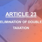 Article 23 Elimination of Double Taxation