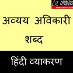 Avyay Avikari Shabd