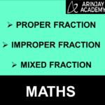 Proper Fraction, Improper Fraction, Mixed Fraction
