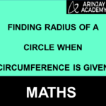 find radius from circumference