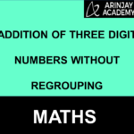 Addition of three digit numbers without regrouping