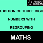 Addition of three digit numbers with regrouping