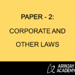 Paper - 2: Corporate and Other Laws
