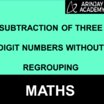 Subtraction of three digit numbers without regrouping