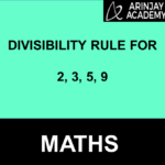 Divisibility Rule for 2, 3, 5, 9