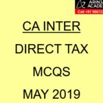 CA Inter Direct Tax MCQs