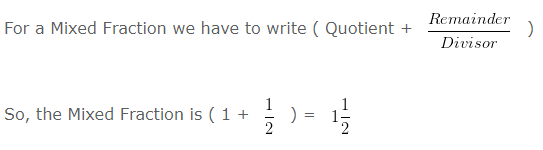 Remainder Mixed Fraction