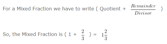 Remainder 2 of Mixed Fraction