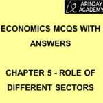 Economics MCQs with Answers - Chapter 5 - Role of Different Sectors