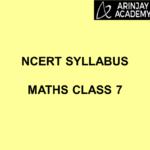 NCERT SYLLABUS MATHS CLASS 7