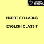 NCERT Syllabus English Class 7