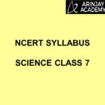 NCERT Syllabus Science Class 7