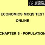 Economics MCQs Test Online - Chapter 6 - Population