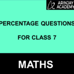 Percentage Questions For Class 7