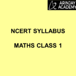 NCERT Syllabus Maths Class 1