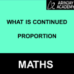 What isContinued Proportion