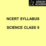 NCERT Syllabus Science Class 9