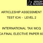 International Tax MCQ - CA Final Elective Paper 6C