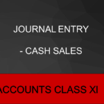 Journal Entry - Cash Sales