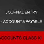 Journal Entry - Accounts Payable