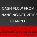 Cash Flow from Financing Activities Example