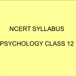 NCERT Syllabus Psychology Class 12