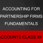 Accounting For Partnership Firms Fundamentals
