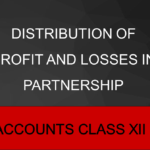Distribution Of Profit And Losses In Partnership