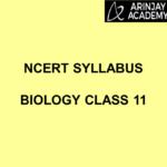 NCERT Syllabus Biology Class 11