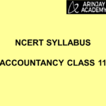NCERT Syllabus Accountancy Class 11