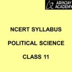 NCERT Syllabus Political Science Class 11