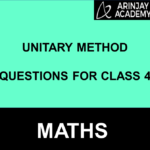 Unitary Method Questions For Class 4