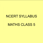 NCERT Syllabus Maths Class 5