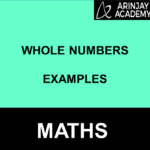 Whole Numbers Examples