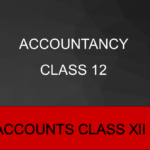 Accountancy Class 12 12th Accountancy