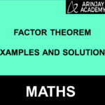 Factor Theorem Examples And Solutions