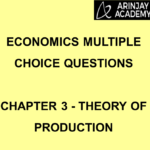 Economics Multiple Choice Questions Chapter 3 Theory of Production