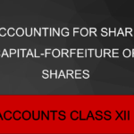Accounting for Share Capital-Forfeiture of Shares