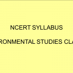 NCERT Syllabus Environmental studies Class 5