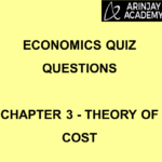 Economics Quiz Questions Chapter 3 Theory of Cost