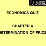 Economics Quiz - Chapter 4 - Determination of Price