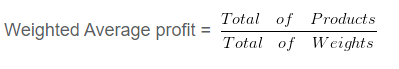 Weighted Average Profit