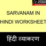Sarvanam in Hindi Worksheet