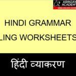 Hindi Grammar Ling Worksheets