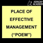 PLACE OF EFFECTIVE MANAGEMENT