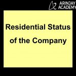 Residential Status of company