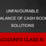 Unfavourable Balance of Cash Book Solutions